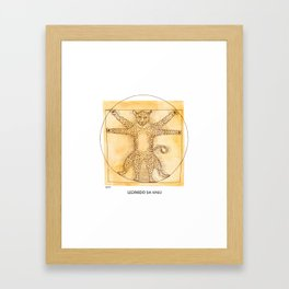 Leopardo da Vinci Framed Art Print