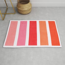 Pink & Orange Geometric Pattern Rug