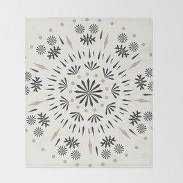 Snowflakes Scandic Nordic Throw Blanket