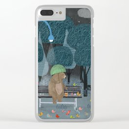 feeding the birds Clear iPhone Case