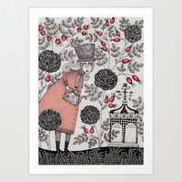 garden Art Prints featuring Winter Garden by Judith Clay