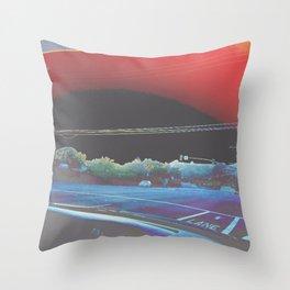stoplight trip Throw Pillow