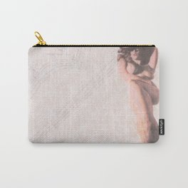 Reclining Lace Nude Carry-All Pouch