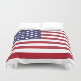 USA flag - Hi Def Authentic color & scale image Duvet Cover
