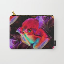 Red Colorful Rose Carry-All Pouch