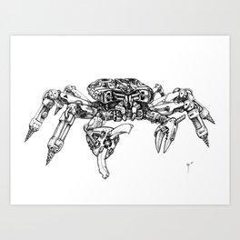 Crabatron Art Print