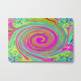 Groovy Abstract Pink Swirl Art 094 Metal Print