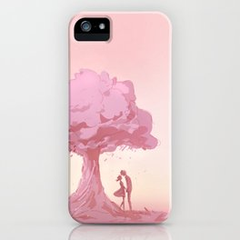 Leaves Fall the Way I do for You iPhone Case