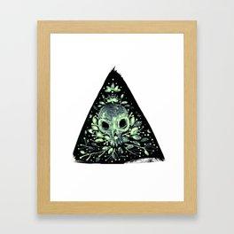 triangular sprouting skull Framed Art Print