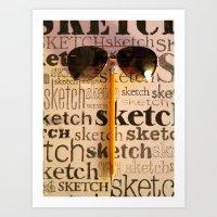 sketch Art Prints featuring Sketch by Rochana Dubey