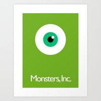monsters inc Art Prints featuring Monsters Inc. by Kory Hill
