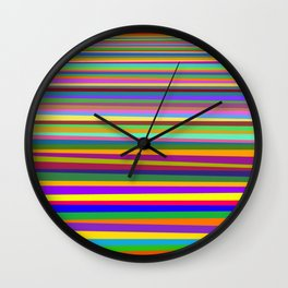 Clash of colors Wall Clock