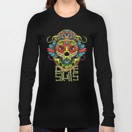 Cute Skull Dia de Los Muertos Long Sleeve T-shirt