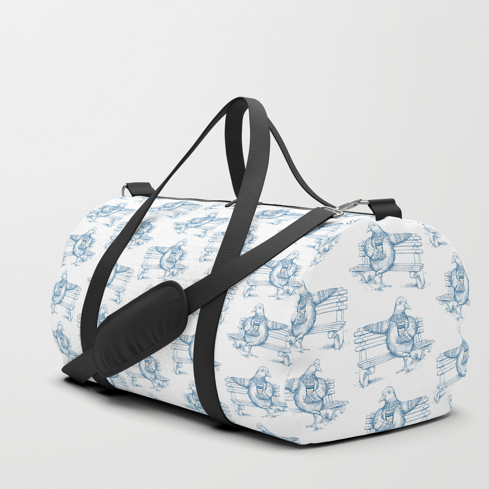 Cup O' Coffee Nyc Style_pigeon Duffle Bag by Lame-o DFL7645971