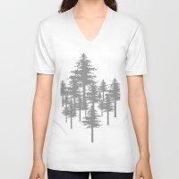 forrest gump V-neck T-shirts featuring Forrest by Dan Parker