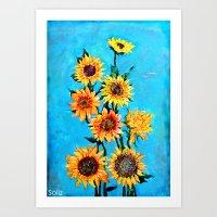 sunshine Art Prints featuring SUNSHINE by Jordan Soliz