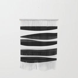 Irregular Stripes Black White Waves Art Design Wall Hanging