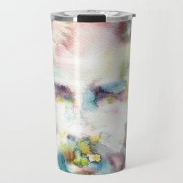 HERMAN MELVILLE - watercolor portrait.2 Travel Mug