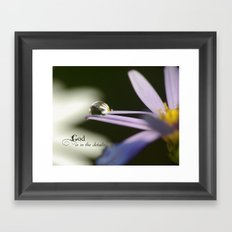 God is in the Details (macro drop) Framed Art Print