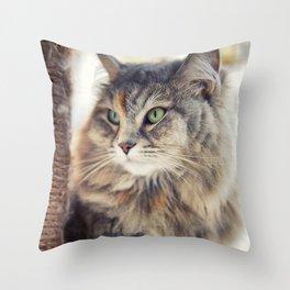 Portrait of Queen Cleopatra Throw Pillow