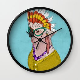 Sophisticated Bird Print Wall Clock