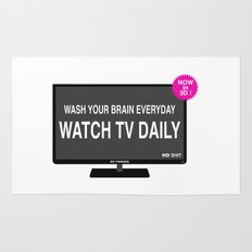 Watch TV daily Rug