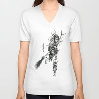 witch V-neck T-shirts featuring Witch by Elias Aquino