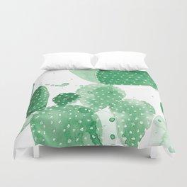 Green Paddle Cactus Duvet Cover