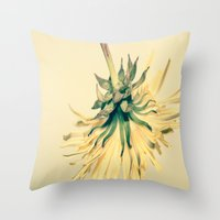 weed Throw Pillows featuring Weed by Dora Birgis