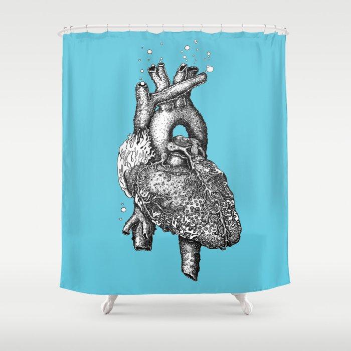 Reef heart Shower Curtain