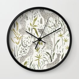 Grey Cheetahs Wall Clock