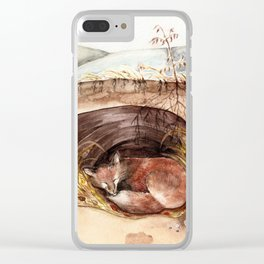 Fox's Den Clear iPhone Case