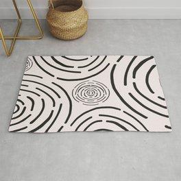 Line art circle pattern Rug