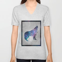 Galaxy Series (Wolf) Unisex V-Neck
