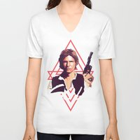 han solo V-neck T-shirts featuring Han Solo by Cesar Carlevarino