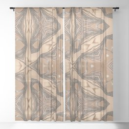 body color 1 Sheer Curtain