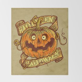 Halloween dark khaki Throw Blanket