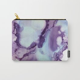 Abstract in purple and light blue Carry-All Pouch