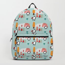 Oriana Penguin blue Backpack