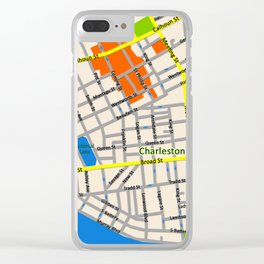 Map of Charleston, SC Clear iPhone Case