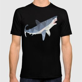 Low Poly Great White Shark T-shirt