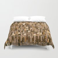 community Duvet Covers featuring Fortified Community by Tony M Luib