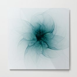 Dark Flower Fractal Metal Print