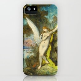 "Gustave Moreau ""Leda et le Cygne (Leda and the Swan)"" iPhone Case"