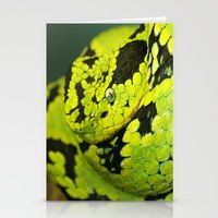 snake Stationery Cards featuring SNAKE by Ylenia Pizzetti