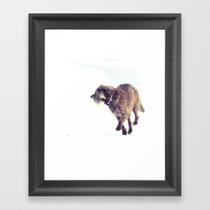 Snowy Puppy Framed Art Print