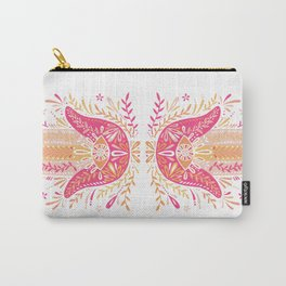 Hamsa Hand – Pink & Peach Palette Carry-All Pouch