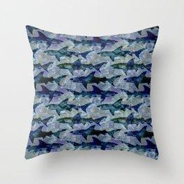 Deep Water Sharks Throw Pillow