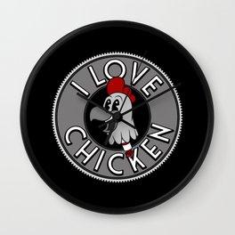 Chicken Love Wall Clock
