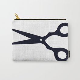 Simple Black Scissors Carry-All Pouch